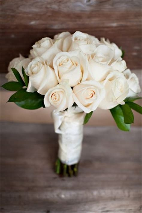 Wedding Bouquet White Roses by White Wedding Bridal Bouquet