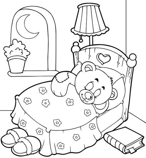 teddy bear in pajamas coloring page free coloring pages of pajama day