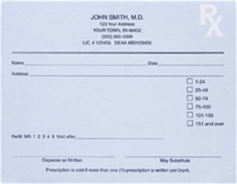 Prescription Pad Template by Prescription Pad Templates For Your Office Quill
