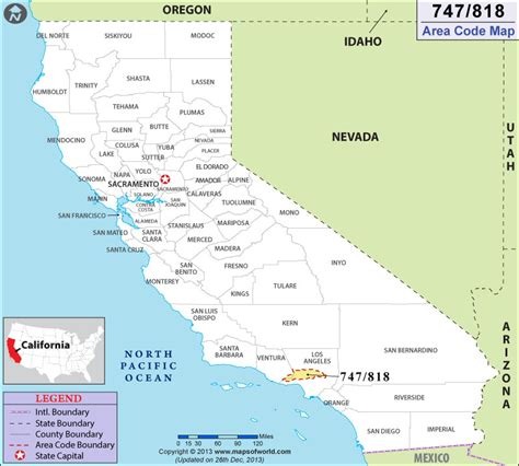 Area Code 818 Lookup 818 Area Code Map Where Is 818 Area Code In California