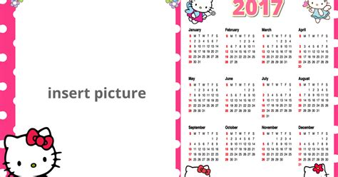 free printable hello kitty planner hello kitty calendar 2017 png frame printable png frames