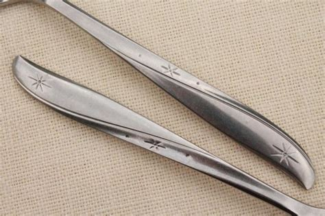 vintage stainless flatware, Oneida Twin Star silverware