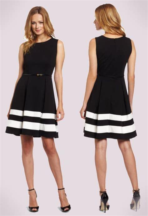 Fashion Find Work To Play Dress by Calvin Klein Black Ivory Work Dress Work Dresses