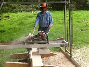 swing blade mill chainsaw powered swing saw mill
