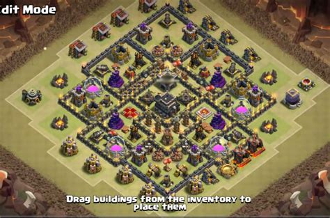 th9 base with war bomb tower 2016 top 18 best th9 war base layouts 2018 new anti 2 stars