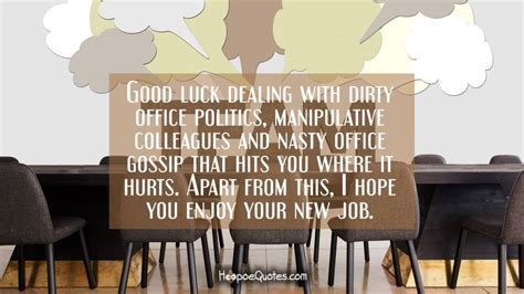 office gossip about you good luck dealing with dirty office politics manipulative