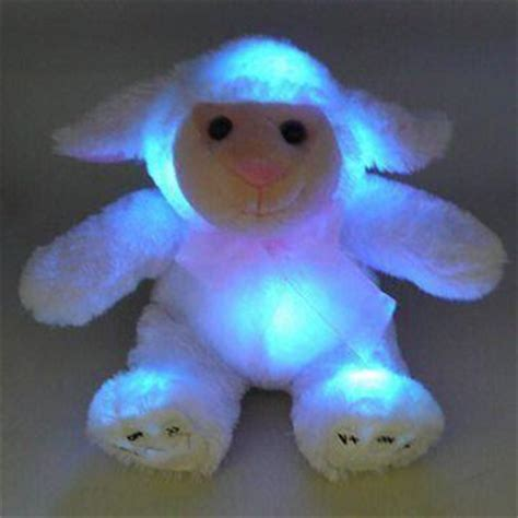light up connecting toys china novelty plush animal light up toy with 3 colors