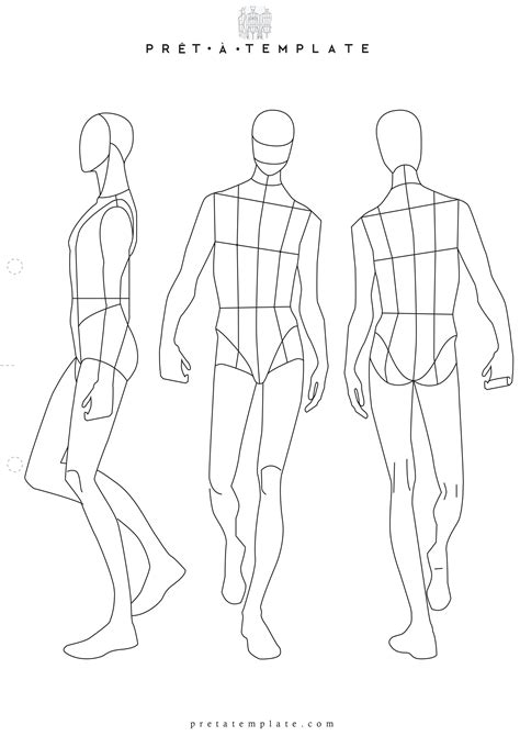 man male body figure fashion template d i y your own