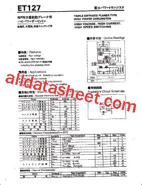 et191 transistor datasheet et127 datasheet pdf fuji electric