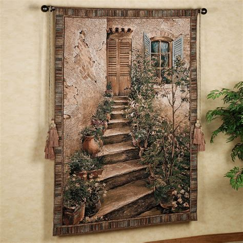 Christmas Holiday Decorating Ideas Home by Tuscan Villa Ii Wall Tapestry