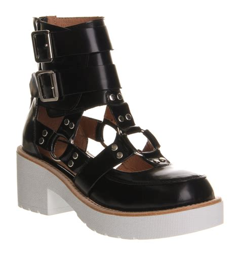 cutout boots jeffrey cbell coltring cutout boot black white sole in
