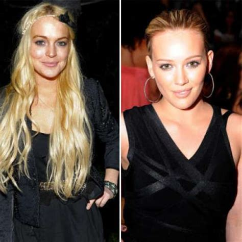 Lindsay And Hilary Make Up by Lindsay Lohan Vs Hilary Duff The Child Both Hooked