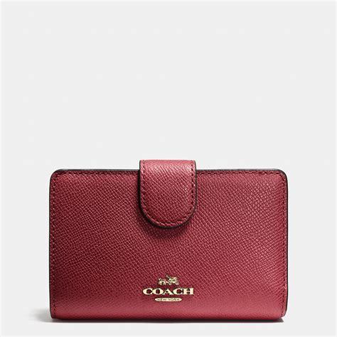 Coach Wallet coach medium zip around wallet in crossgrain leather in