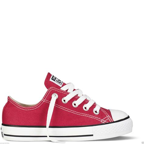 Converse Low Maroon Premium High Quality converse all unisex low tops boys chuck trainers shoes ebay