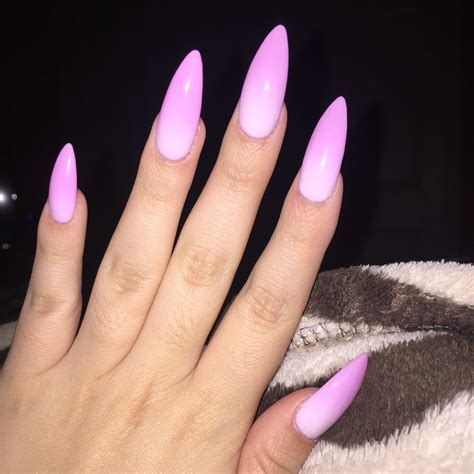 chagne pink color baby pink to white color changing ombr 233 stiletto nails