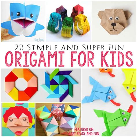 How To Make Paper With Children - 20 and easy origami for easy peasy and