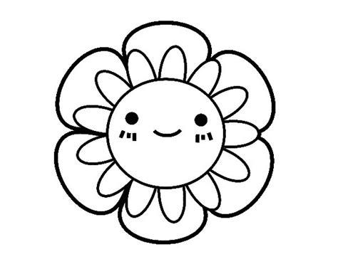 imagenes para colorear flor dibujo de flor infantil para colorear dibujos net