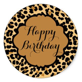 Zebra Print Home Decor by Leopard Happy Birthday Gifts On Zazzle