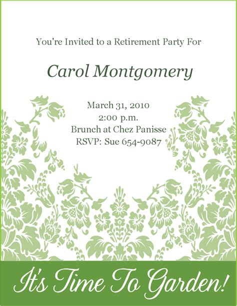 retirement invitation templates free retirement invitation