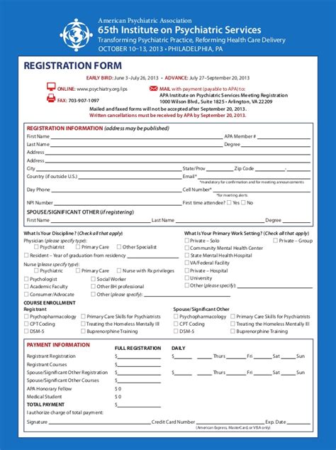 marriott room rate discount authorization form 2013 american psychiatric association institute on psychiatric servic