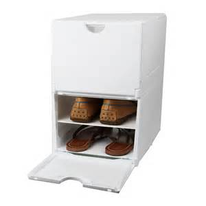 bo 238 te rangement 4 paires de chaussures plastique blanc