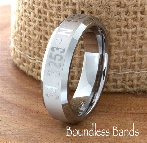 coordinates ring band any coordinates location tungsten