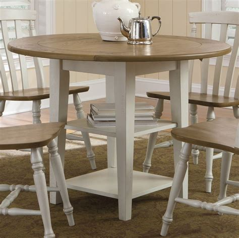 Circular Kitchen Table Dining Table Set With Leaf Homesfeed