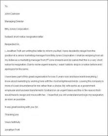 Employee Resign Letter by Employee Resignation Letter Sle
