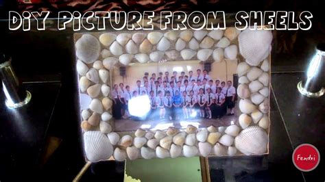 Kerang Dara Per Kg how to make picture frames from shells bingkai foto dari