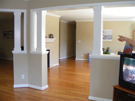 half wall columns interior decorating