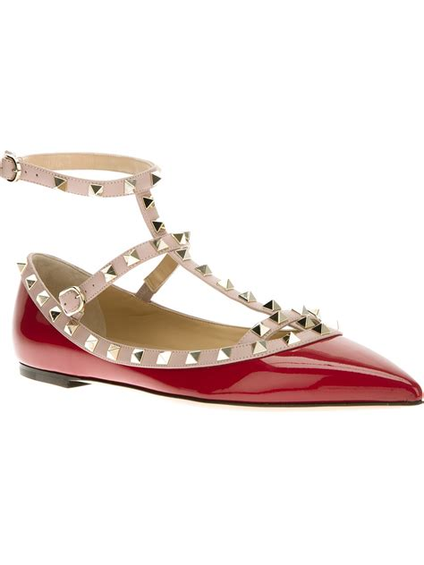 studded shoes valentino studded shoe in lyst