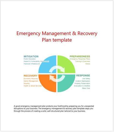 incident management policy template emergency management recovery plan template clickstarters