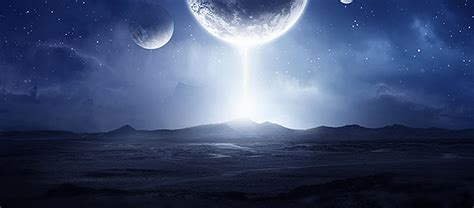 Sci Lighting by Photoshop Tutorial Sci Fi Landscape With Lighting Effects
