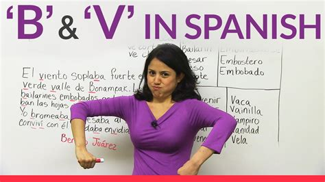 spanish b for the the letters b v in spanish youtube