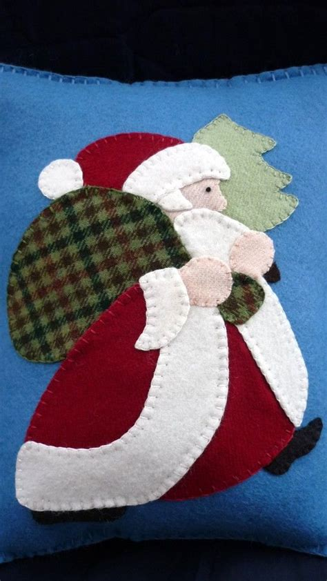 patterns christmas felt applique santa pillow christmas wool felt fieltro