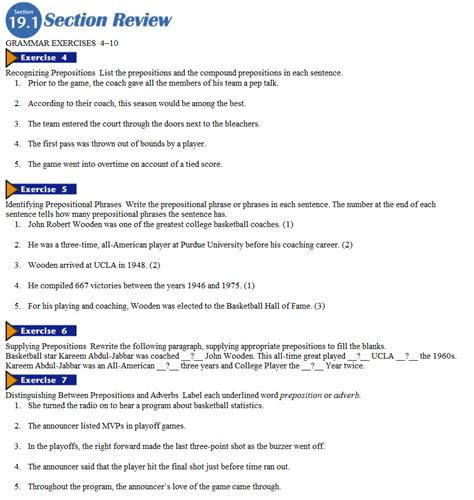 Chapter 3 The Biosphere Section Review 3 1 by Chapter 19 Prep Conj Interjections Mr Schroeder S