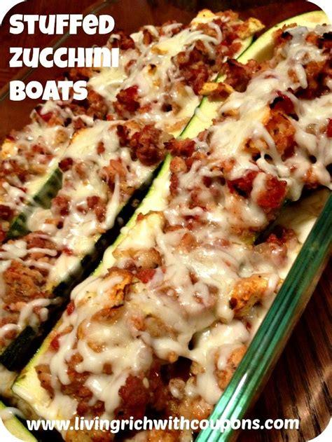 dinner on the boat recipes stuffed zucchini boats recipe dinner recipes