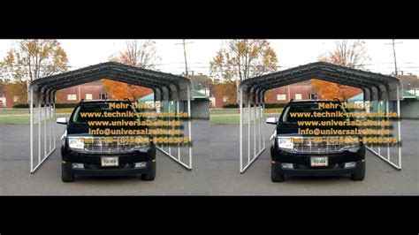 Carport Baugenehmigung by Mobile Carports Unterstand Aus Stahl Stahlports Portable