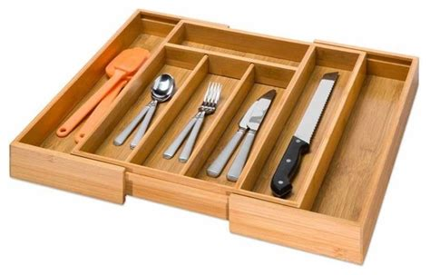 Expandable Cutlery Trays For Kitchen Drawers by Expandable Cutlery Tray Bamboo Traditional Kitchen