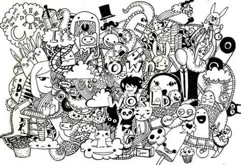 membuat doodle art  simple  contoh gambar
