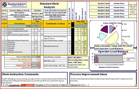 excel template developer for continuous improvement