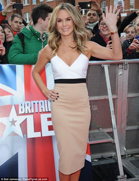 Beckham Amanda Rc30511 1 amanda holden wows in two tone beckham dress after designer stepped out in it last