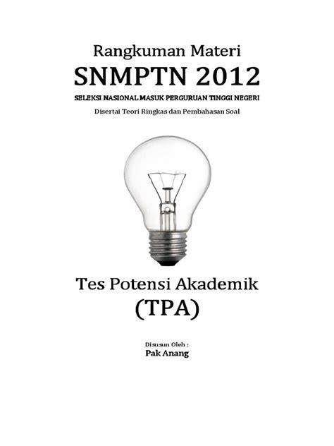 Taklukan Tpa Tes Potensi Akademik contoh soal tpa analogi verbal rommy 7081
