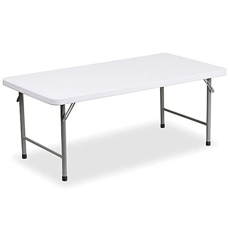 48 Inch Folding Table Buy Flash Furniture 48 Inch Plastic Folding Table In White From Bed Bath Beyond