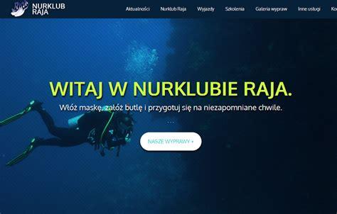 nowoczesny layout strony nurklub raja centrum nurkowe tworzenie mobilne strony
