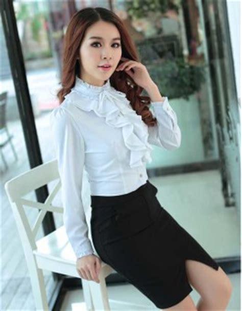 Kemeja Wanita Kerja Putih kemeja kerja wanita putih modis jual model terbaru murah
