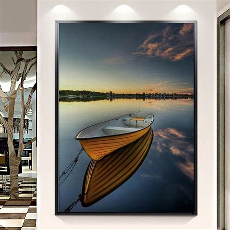 40x30cm sea boat modern painting canvas home wall