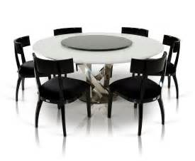 modern breakfast table a x spiral modern round white dining table with lazy susan