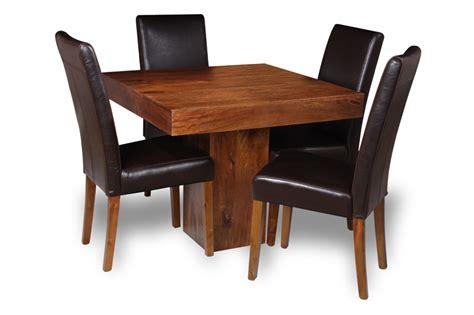 cube dining set with leather chairs small dakota cube dining table 4 barcelona leather
