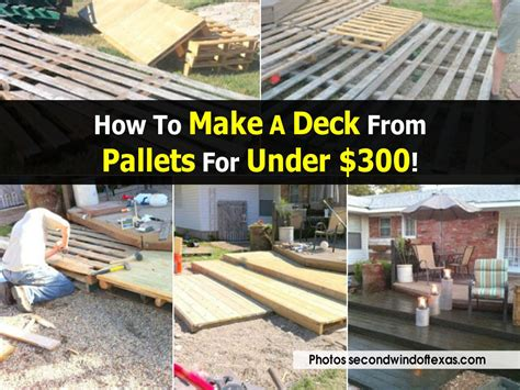 how to build a canstruction project how to make a deck from pallets for under 300